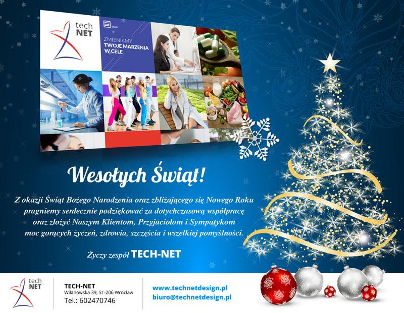 Wesołych i udanych Świąt 2016, Życzy TECH-NET